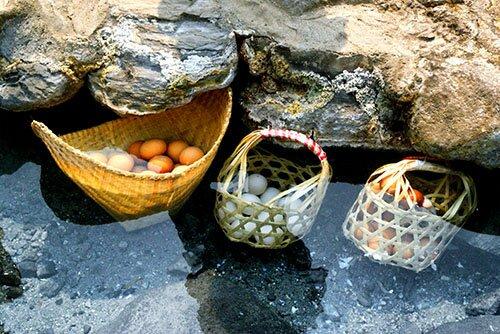ไข่ต้มน้ำพุร้อน อุทยานแห่งชาติแจ้ซ้อน