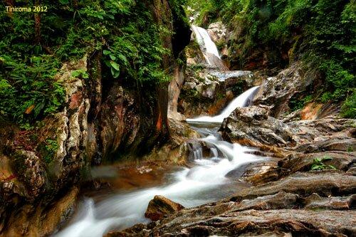 น้ำตกภายใน อุทยานแห่งชาติลานสาง