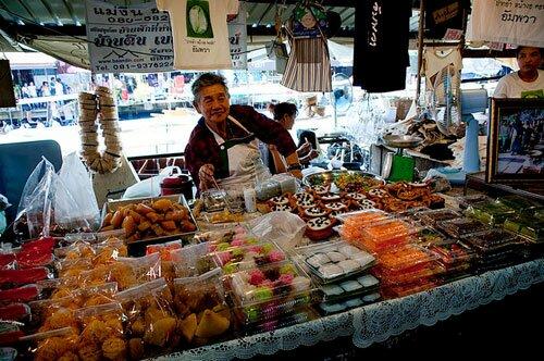 ขนมไทย ตลาดน้ำอัมพวา