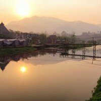 พระอาทิตย์ยามเช้า อินเดียน่า คอทเทจ รีสอร์ท ปาย