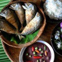 ข้าวสวย น้ำพริก ปลาทู