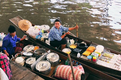 เรือขายขนม ตลาดน้ำคลองลัดพลี